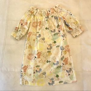 Zara floral off the shoulder dress/ cover up Small